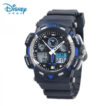 100% Genuine Disney Sports Watch Men Digital Quartz Alarm Wristwatches Outdoor Military Casual Watches Reloj LP-PS027-8