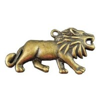 Vintage Bronze Tone Alloy Bracelet Necklace Lion Pendant Charm 48mm 10pcs 32558: Jewelry: Amazon.com