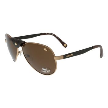Lacoste Rose Gold Vintage Aviator Sunglasses