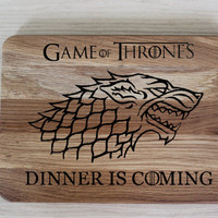 Game of Thrones Cutting Board Personalized Birthday Gift Aniversary Gift Gift for Him