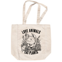 Love Animals Creme Tote