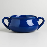 Navy Double-Handled Soup Crock - World Market