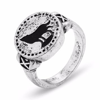 Dark Souls 3 Wolf Ring Cosplay Finger Rings for Women Men Party Jewelry
