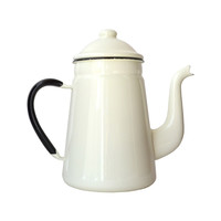 Enamel Spout Coffee Carafe in Ivory
