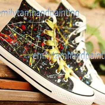 DCKL9 Graffiti Converse Sneakers,Custom Converse, Fashion Shoes in Punk Rock Style