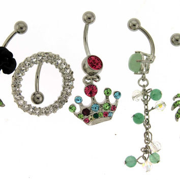 Assortment-A9 of 5 Belly Rings - Limited 1 per Order per Day.