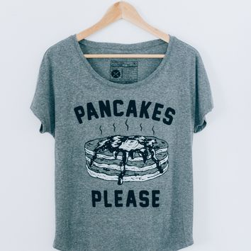Pancakes Please Dolman Tee