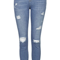 PETITE MOTO Bleach Authentic Ripped Skinny Jeans - Topshop