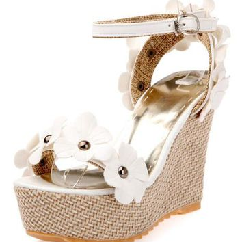 Daisy Chain Wedge Sandals