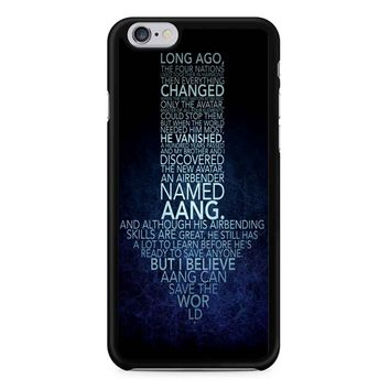 Avatar The Last Airbender Monologue iPhone 6/6s Case