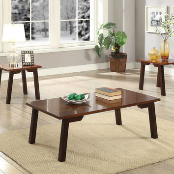 ACME Manju 3 Piece Pack Coffee and End Table Set in Walnut