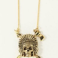 Han Cholo, Indian Chief Necklace - Gold - Men - MOOSE Limited