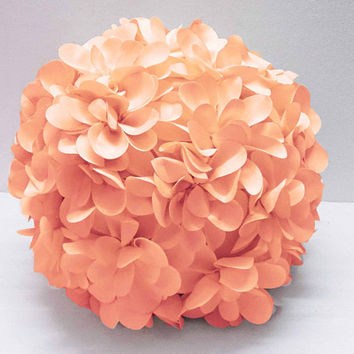 baby coral flower pillow round pouf circular pillow fibre pillow nursery decor baby pillow sofa pillow bedroom decor wedding home decor gift
