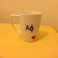 Alpha Phi inspired sorority mug