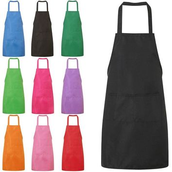 Drop New Lady Woman Apron Home Kitchen Chef Aprons Restaurant Cooking Baking Dress Fashion Apron With Pockets