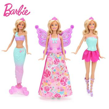Original Barbie Dreamtopia Fairytale Dress Up Doll Feature Merma e642ac11519e