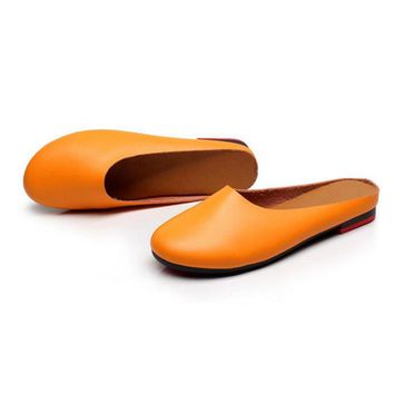 Spring Women Genuine Leather Flat Gommino Moccasin Loafers Casual slippers Cow Driving Fashion Ballet Shoes size 35-43 k19