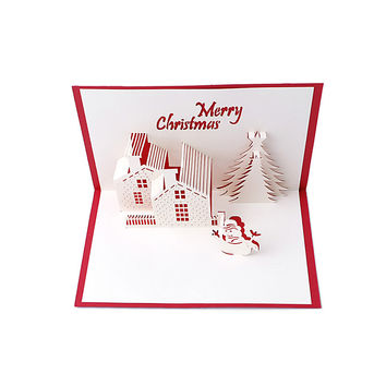 Snowman Handmade 3D Pop Up Holiday Greeting Cards Christmas Gifts