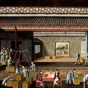 Various Stages In The Manufacture And Selling Of Tea Giclee Print Poster by Chinese School
