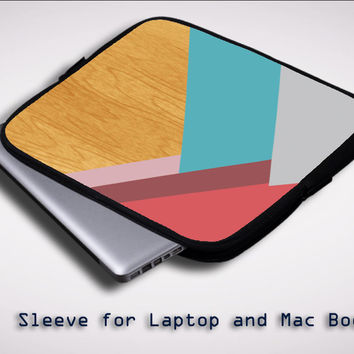 Geometric Wood COOL Y1468 Sleeve for Laptop, Macbook Pro, Macbook Air (Twin Sides)