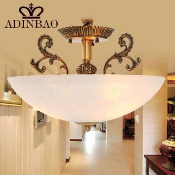 New modern semicircle copper glass ceiling light 8008-400