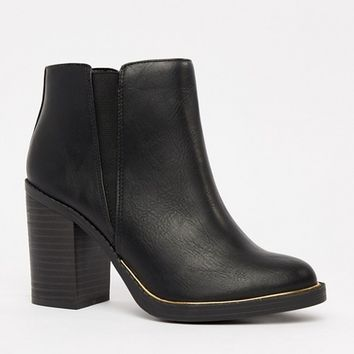 New Look Block Heel Boot at asos.com