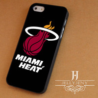 Miami heat logo iPhone 4 Case 5 Case 5c Case 6 Plus Case, Samsung Galaxy S3 S4 S5 Note 3 4 Case, iPod 4 5 Case, HtC One M7 M8 and Nexus Case