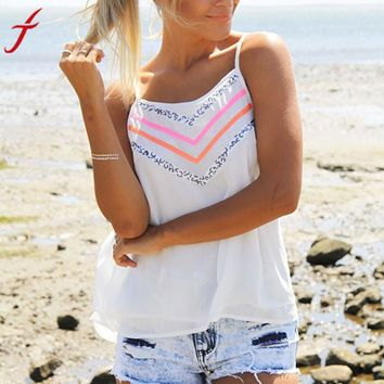 Sheer Pink and Sparkle Pattern Tank Top