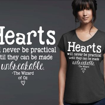 Hearts Will Never Be Practical T-shirt | Wizard of Oz