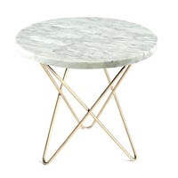Mini O Table - White Marble