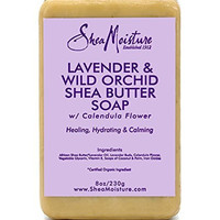 Shea Moisture Organic Lavender & Wild Orchid Shea Butter Soap with Calendula Flower