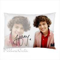 "Harry Styles 1D One Direction on Pillow Case, Pillow Case Cover Bedding Gift Idea 30"" x 20"""