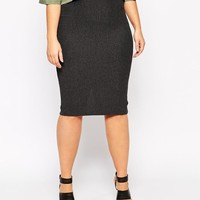 ASOS Curve | ASOS CURVE Midi Pencil Skirt in Heavy Rib at ASOS