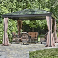 12-Ft x 16-Ft Year-Round Use Gazebo with Canopy & Curtains