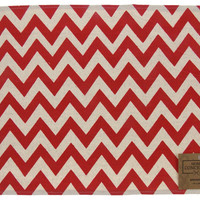 Red White Chevron Placemats Set of 4 Home Concepts Casa 13x19 Cotton Polyester