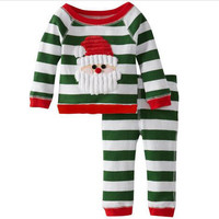 ST261 New 2016 baby girls Clothing Sets Christmas Set Tops + pants 2 pcs Children Clothes Suit Children's clothing 2-6 Years