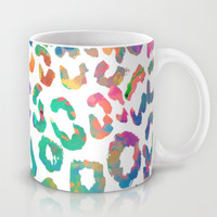 Aqua Leopard Mug by Amy Sia