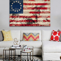 13-Star Betsy Ross Flag Canvas | Daily deals for moms, babies and kids