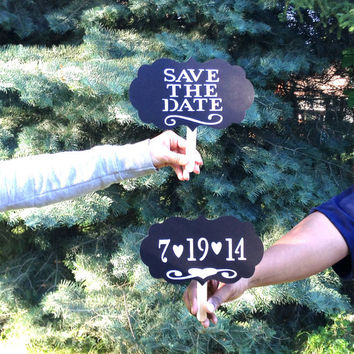 SAVE THE DATE Photo Booth Props Wedding Signs Photobooth Props Photographer Props Wedding Save the Date Sign