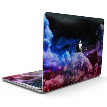 Purple Blue and Pink Cloud Galaxy - MacBook Pro with Touch Bar Skin Kit