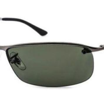 BRAND NEW Ray-Ban Polarized Sunglasses RB3183 004/9A 64mm Grey Green AUTHENTIC
