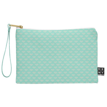 Allyson Johnson Blue Hearts Pouch