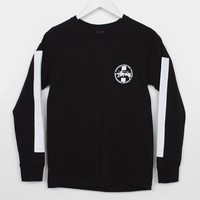 Stussy Worldwide Dot Tee-Shirt L/S, Black