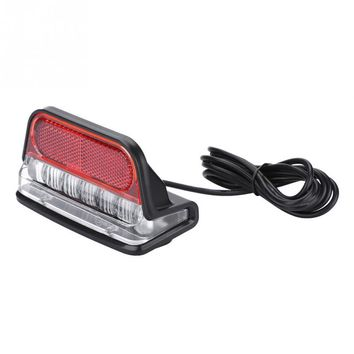Universal Electric Bicycle Taillight Scooter Rear Tail Safety Light Warning Brake Lamp E-bike DIY Accessory