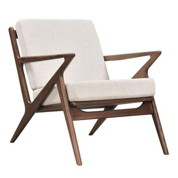 Jet Accent Chair OATMEAL - WALNUT