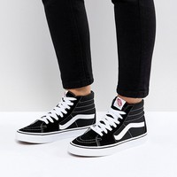 Vans Classic Sk8 Hi Sneakers In Black And White at asos.com