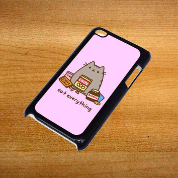 Pusheen Eat Everything For iPod Touch 4 Case *76*