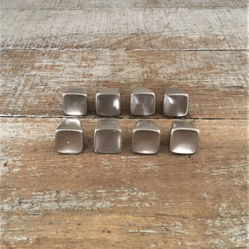 Drawer Knobs 8 Drawer Pulls Stainless Steel Drawer Pulls Mid Century Hardware Dresser Drawer Pulls Cabinet Door Knobs Danish Modern Knobs