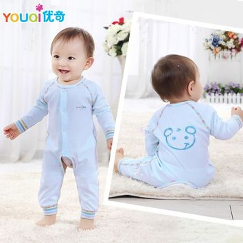 2017 Baby Clothes  Newborns Clothes Cartoon Bear Boys Rompers 3 6 9 Months Toddler Infantil Girls Long Sleeve Jumpsuit Clothing