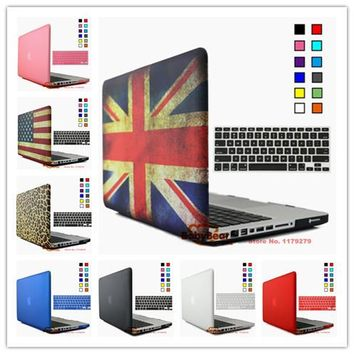 2 in 1 Multi colors Matte Hard Case Cover & Keyboard Protector for Mac book Pro 13 15 for Macbook Pro 13.3 15.4 A1278 A1286